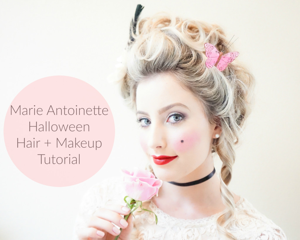 Katelyn Jones A Touch of Pink Blog Lancome Marie Antoinette Halloween Hair + Makeup Tutorial