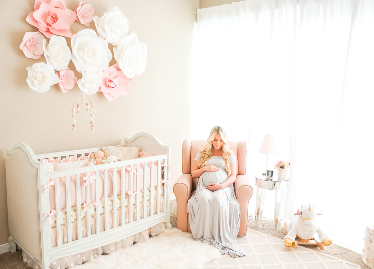 Lifestyle Blogger Katelyn Jones Of A Touch Of Pink Shares Her Baby Girls Nursery Reveal
