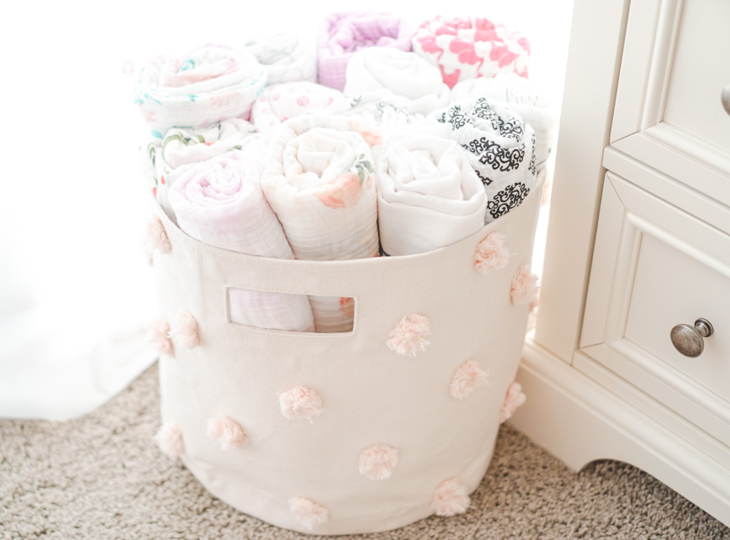 Blogger Katelyn Jones A Touch of Pink Nursery Pehr Designs