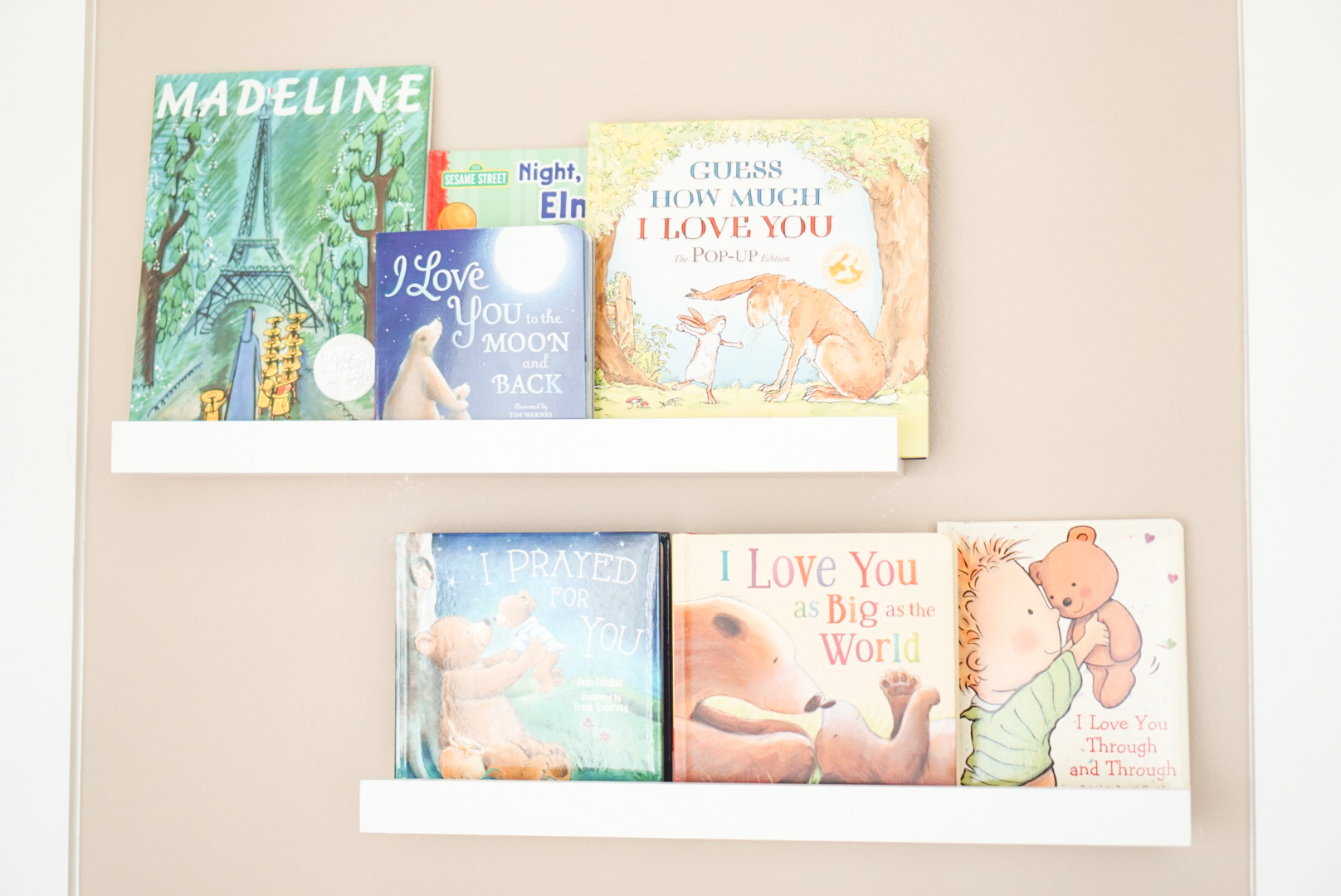 Blogger Katelyn Jones A Touch of Pink Baby Books Nursery Shelves