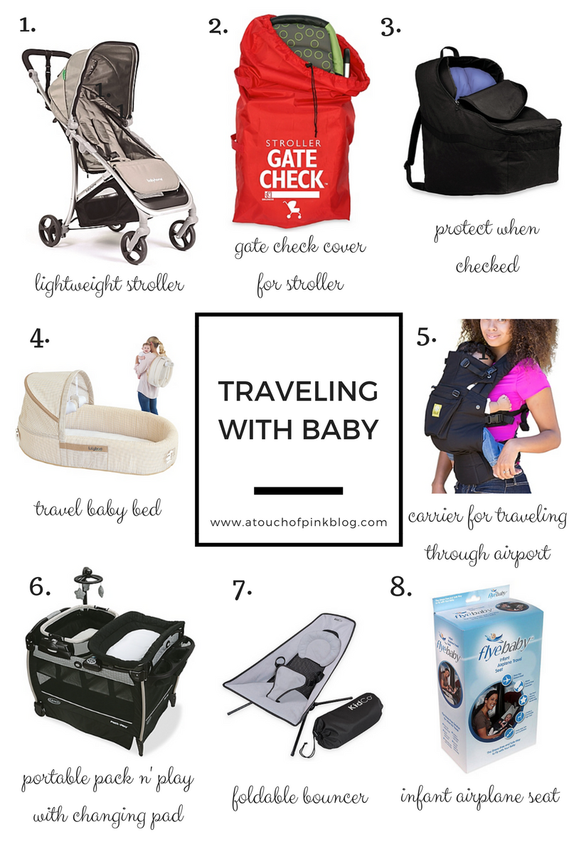 A Touch of Pink Blog Katelyn Jones Travel with Baby Tips