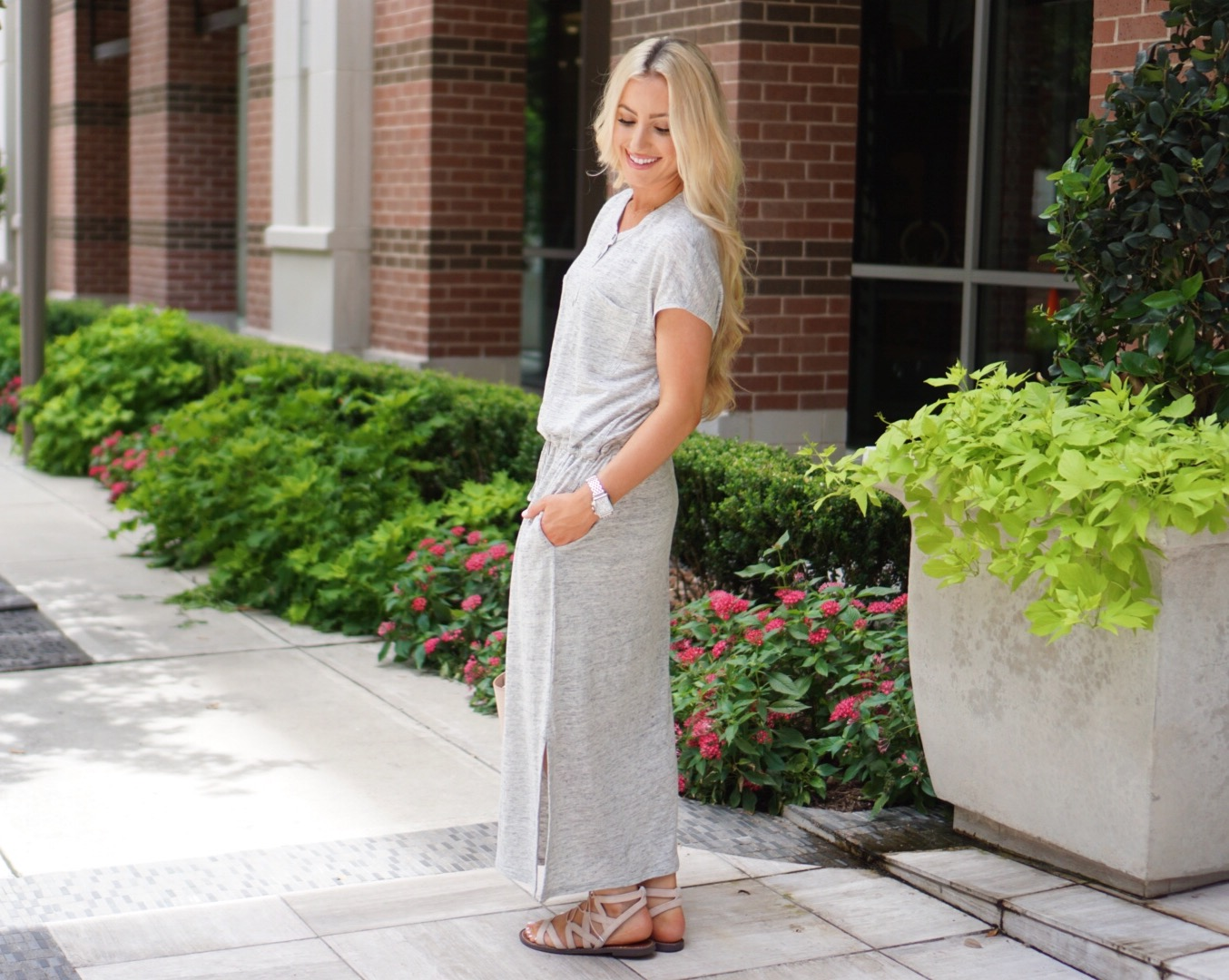 Katelyn Jones A Touch of Pink Blog Maxi Dress Summer Outfit Nordstrom