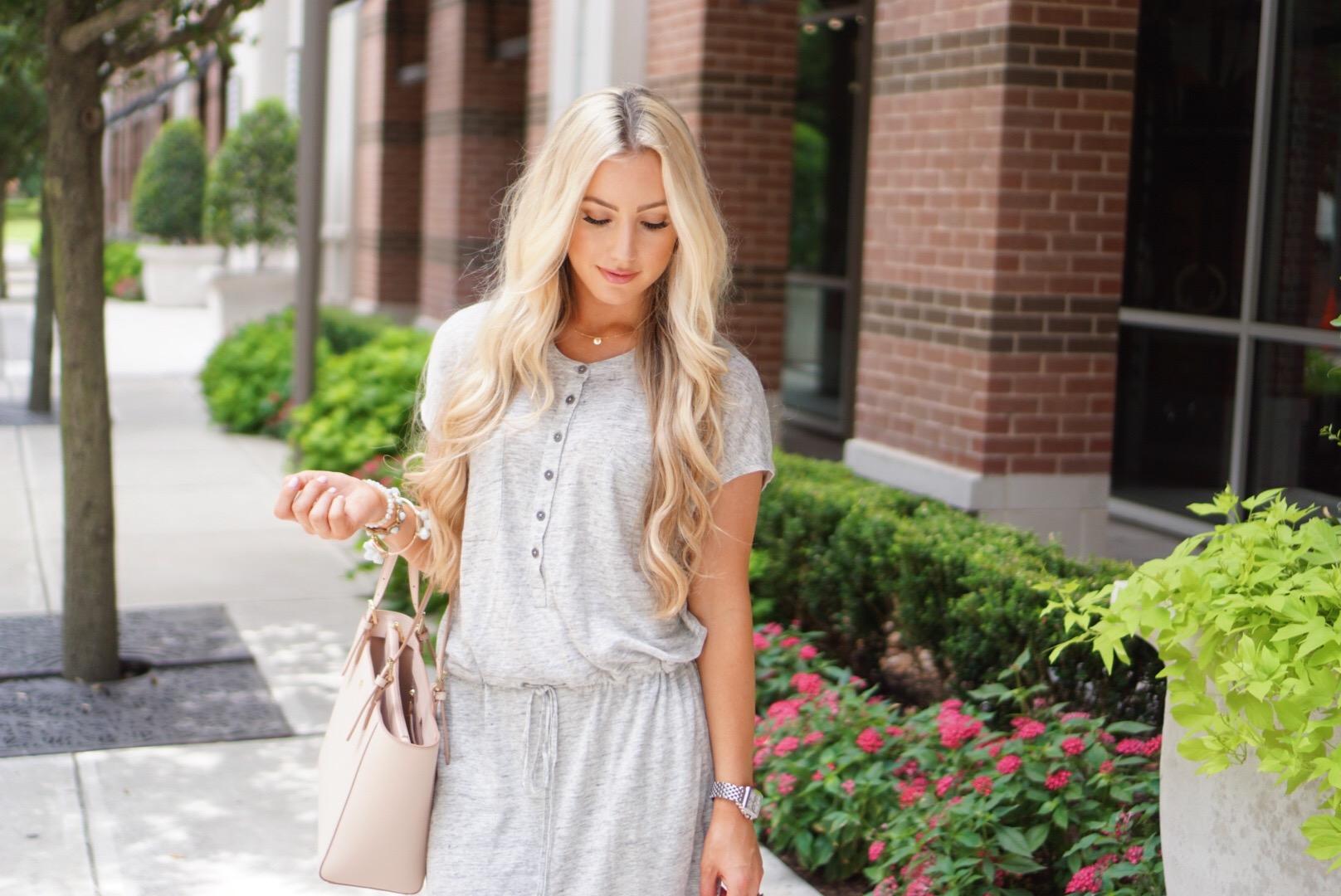 Katelyn Jones A Touch of Pink Blog Nordstrom Maxi Dress