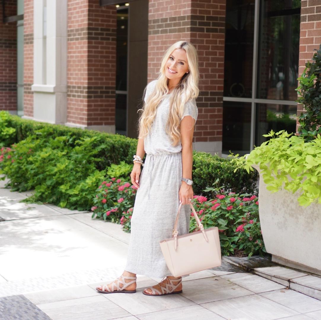 Katelyn Jones A Touch of Pink Blog Maxi Dress