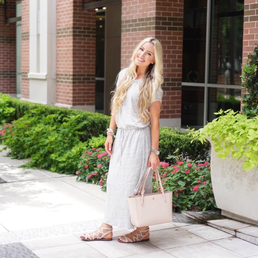 Katelyn Jones A Touch of Pink Blog Maxi Dress Nordstrom