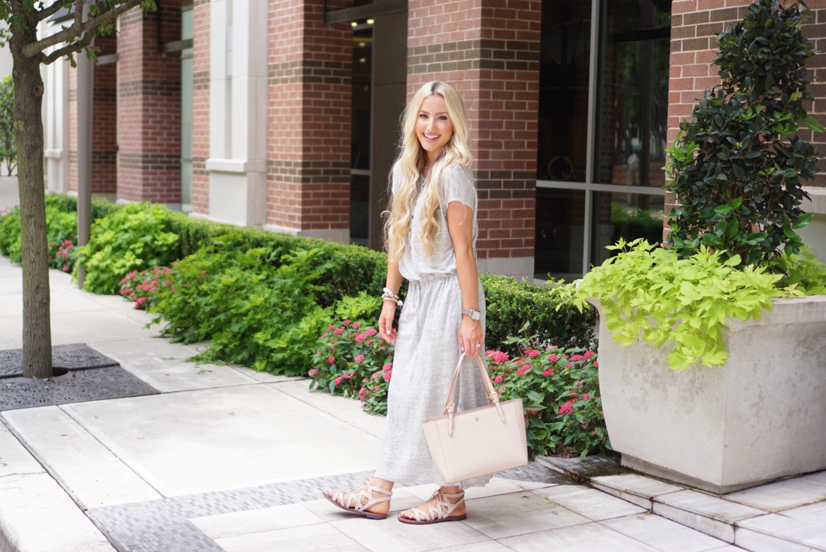 Katelyn Jones A Touch of Pink Blog Maxi Dress Weekend Outfit
