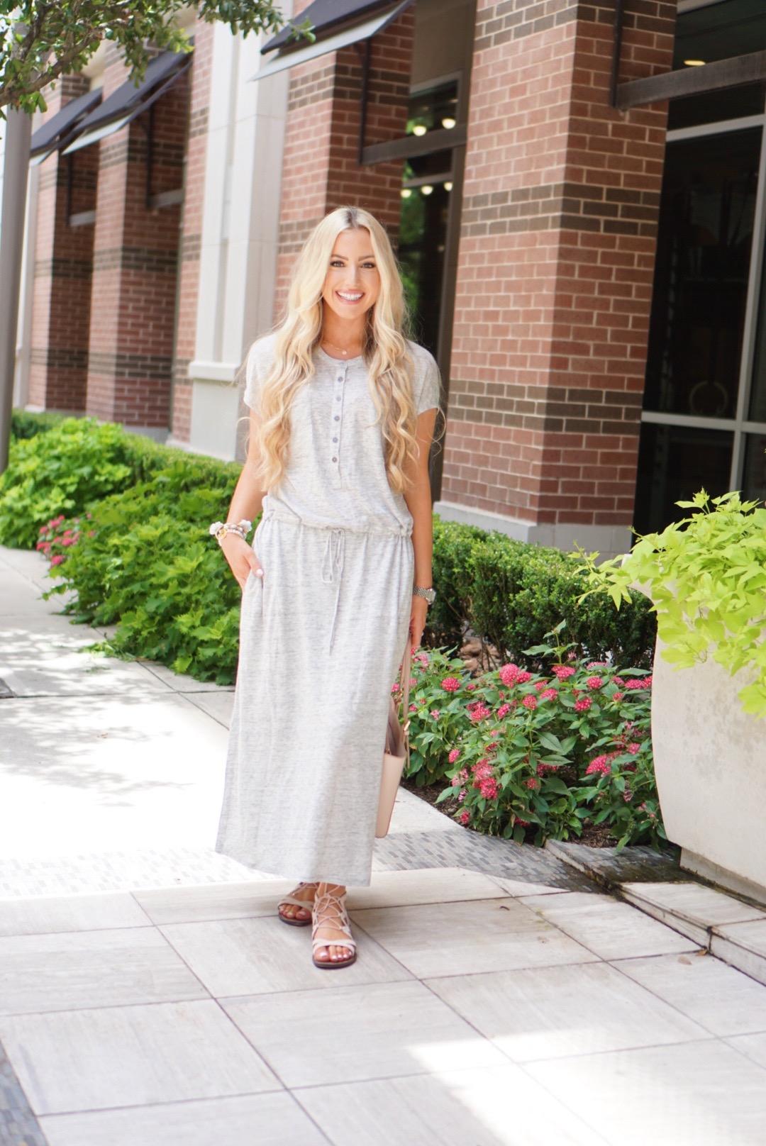 Katelyn Jones A Touch of Pink Blog Linen Knit Maxi Dress Nordstrom