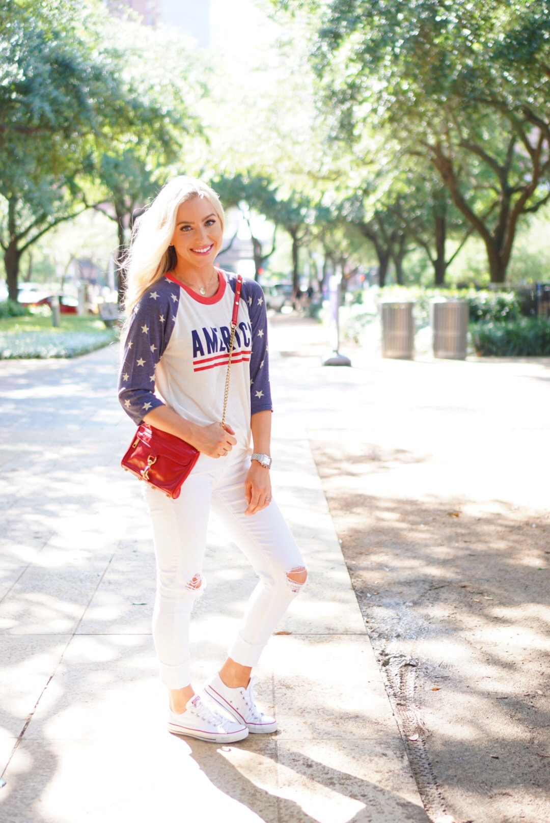 Katelyn Jones A Touch of Pink Blog Fourth of July Outfit Summer Outfit
