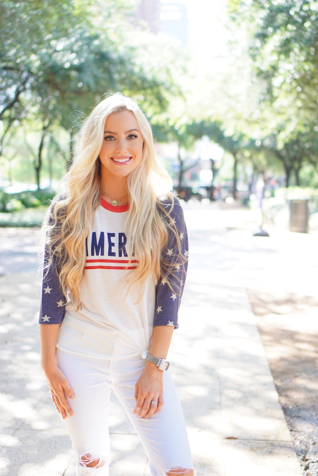 Katelyn Jones A Touch of Pink Blog Fourth of July Outfit