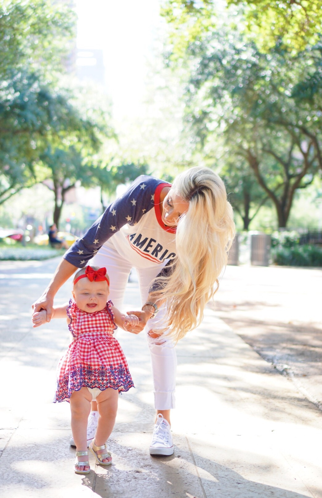 Katelyn Jones A Touch of Pink Blog Baby Girl Red Gingham Dress