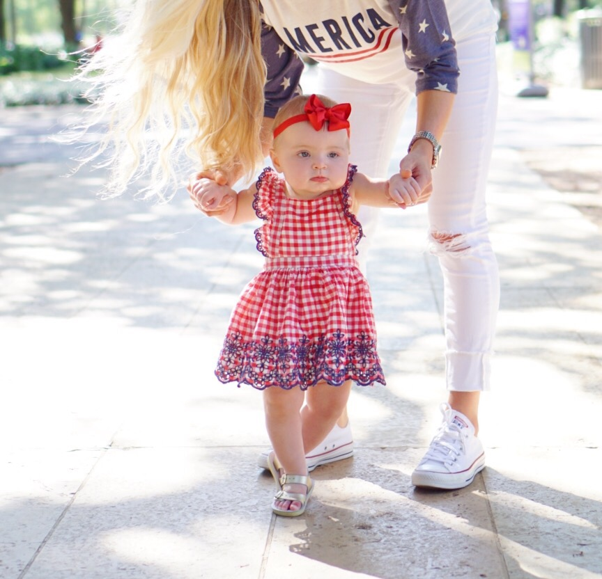 Katelyn Jones A Touch of Pink Blog Baby Girl Fourth of July Outfit