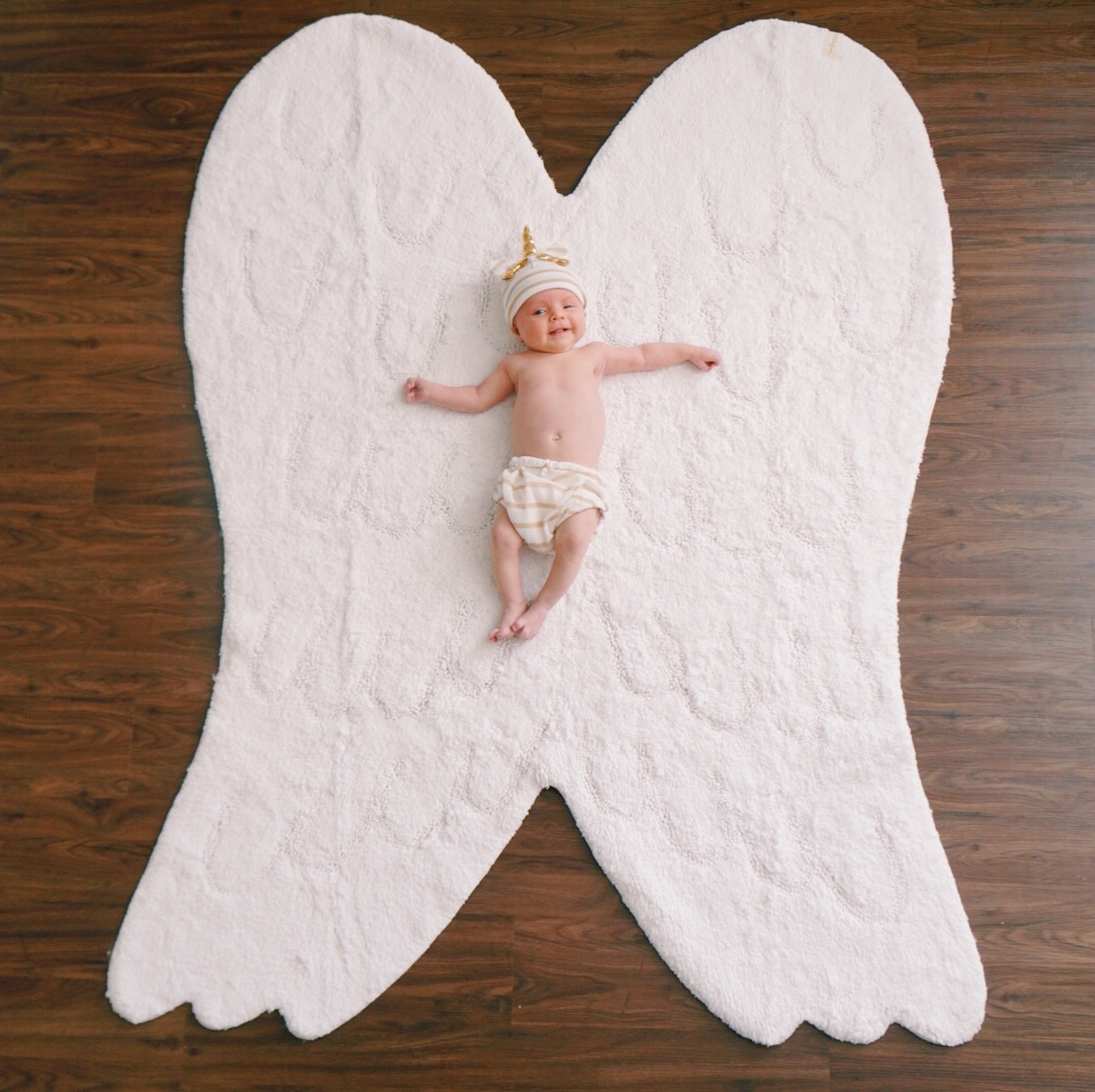 Katelyn Jones A Touch of Pink Blog Nordstrom Anniversary Sale 2017 Lorena Canal Angel Wing Rug Baby Deals Newborn Baby Girl