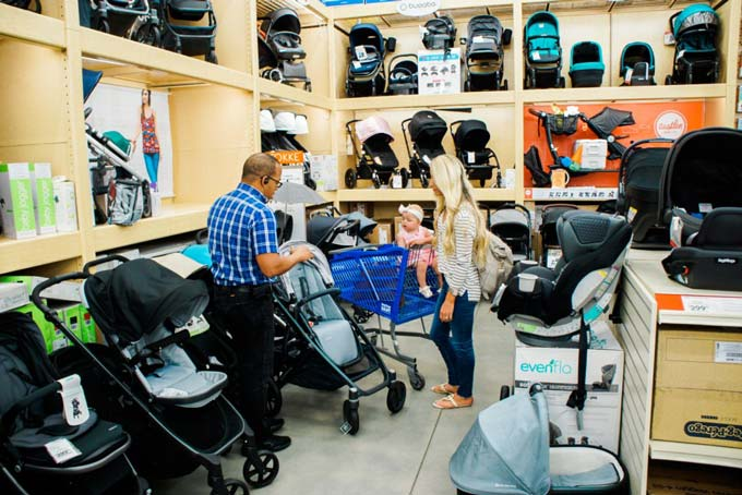 Katelyn Jones A Touch of Pink Blog buybuy BABY Stroller Shopping Stroller Department