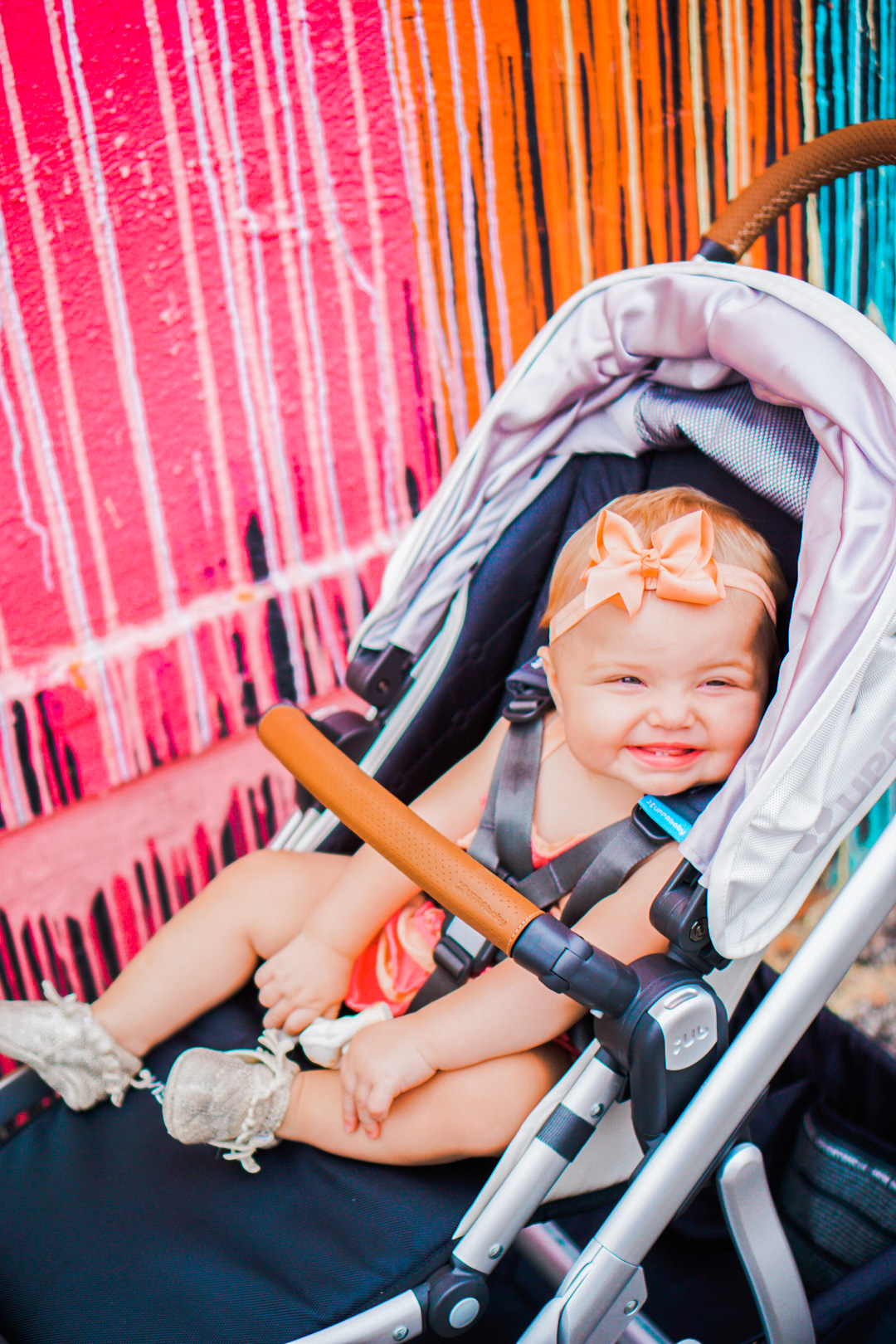 Katelyn Jones A Touch of Pink Blog 2017 Uppababy Vista Stroller Review Happy Baby Girl