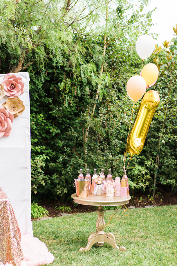 Katelyn Jones A Touch of Pink Baby Birthday Refreshment table