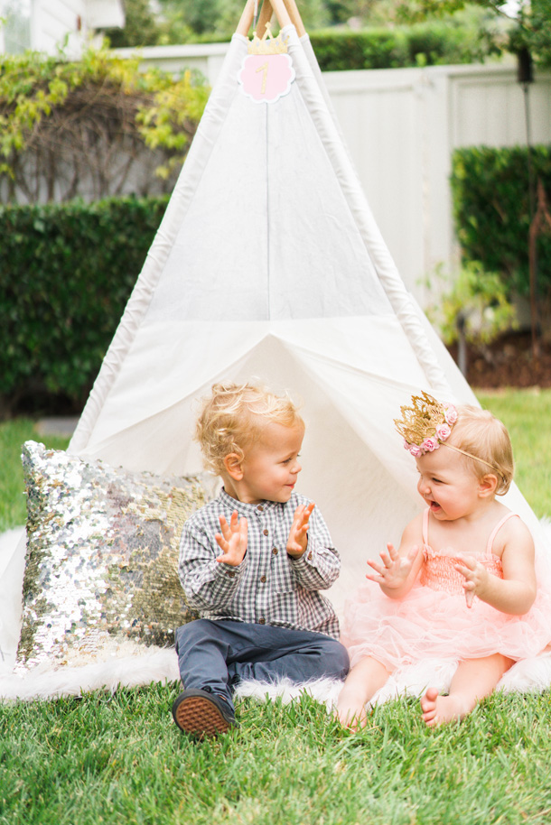 Katelyn Jones A Touch of Pink Baby Birthday Tee Pee