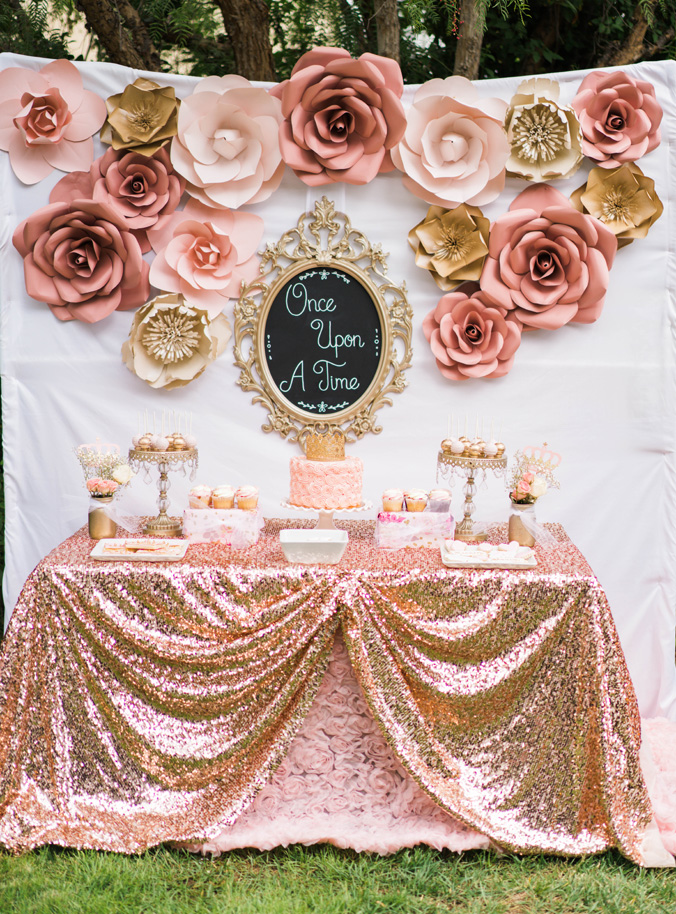 Katelyn Jones A Touch of Pink Baby Girl Birthday Dessert Table