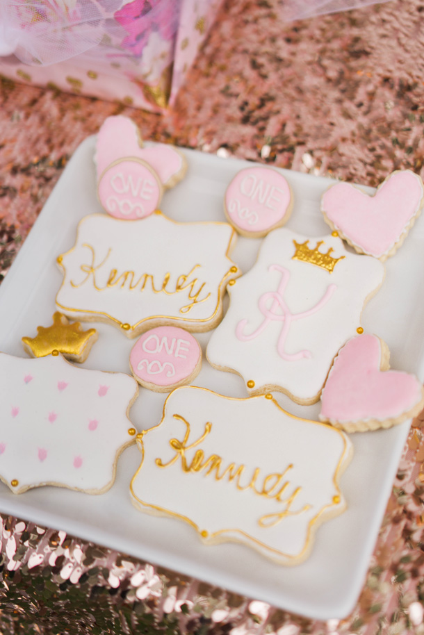 Katelyn Jones A Touch of Pink Baby Girl Birthday Desserts Sugar Cookies