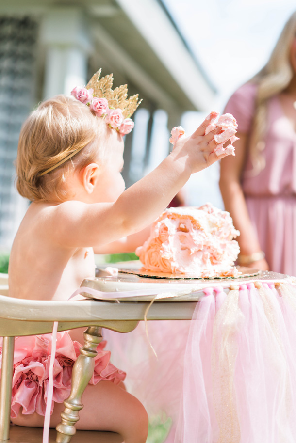 Katelyn Jones A Touch Of Pink Birthday Smash Cake Crown