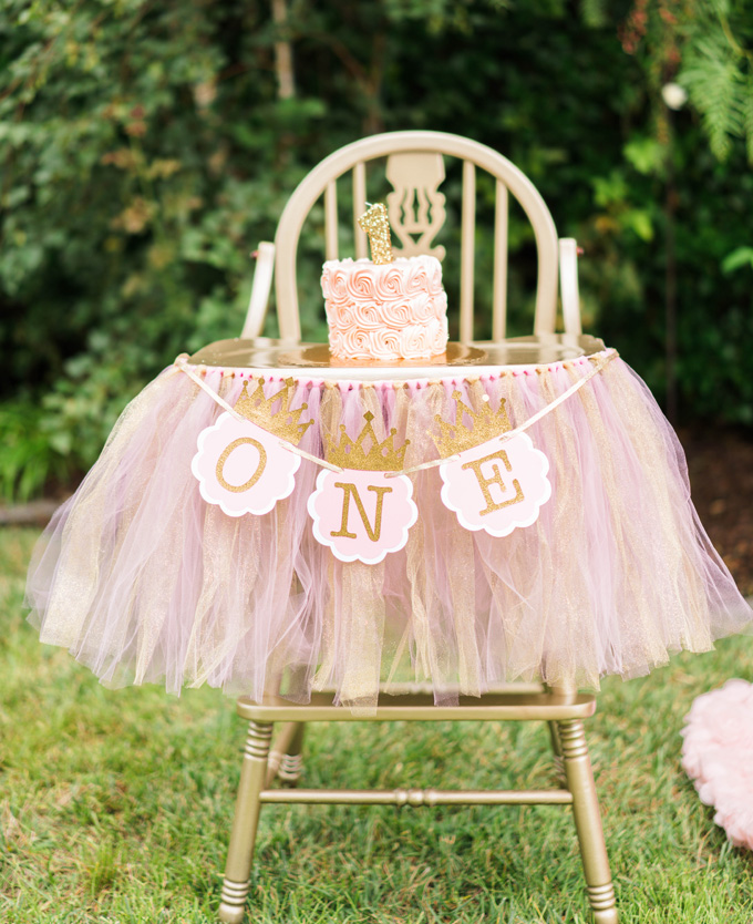 Katelyn Jones A Touch of Pink Girl Smash Cake High Chair