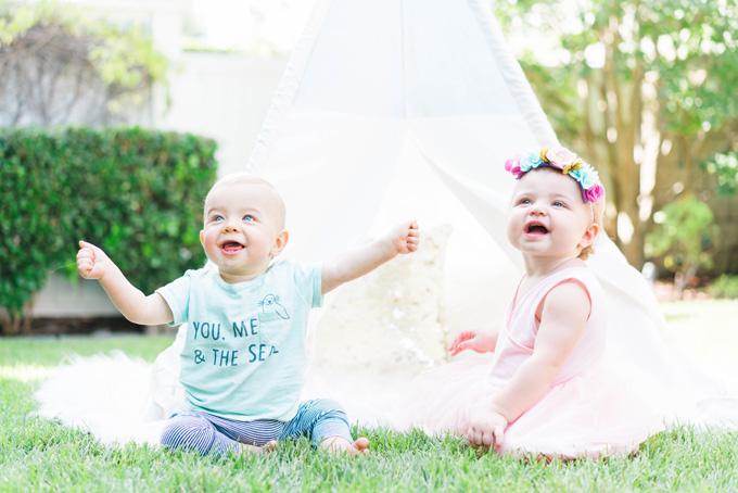 Pink Land Of Nod Tee Baby Models