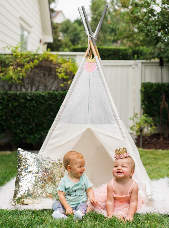 Katelyn Jones A Touch of Pink Land of Nod Tee Pee cute babies
