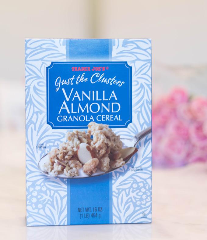 Katelyn Jones A Touch of Pink Blog Trader Joe's Grocery Haul Favorites Vanilla Almond Granola Cereal