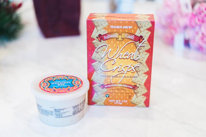 Katelyn Jones A Touch of Pink Blog Trader Joe's Grocery Haul Favorites hummus wheat crisps