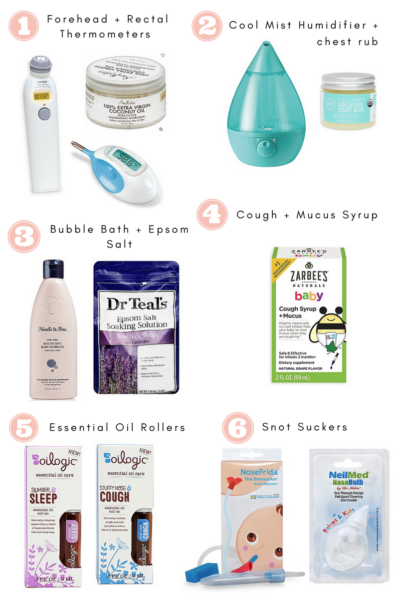Lifestyle blogger Katelyn Jones of A Touch Of Pink shares products to help sick baby